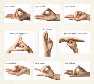 Set of 9 mudras