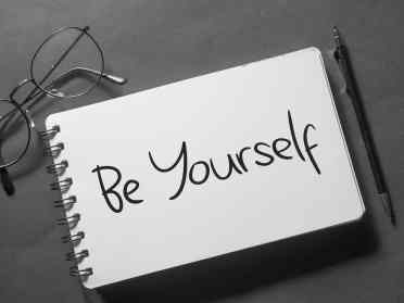 Be Yourself, Motivational Business Words Quotes Concept